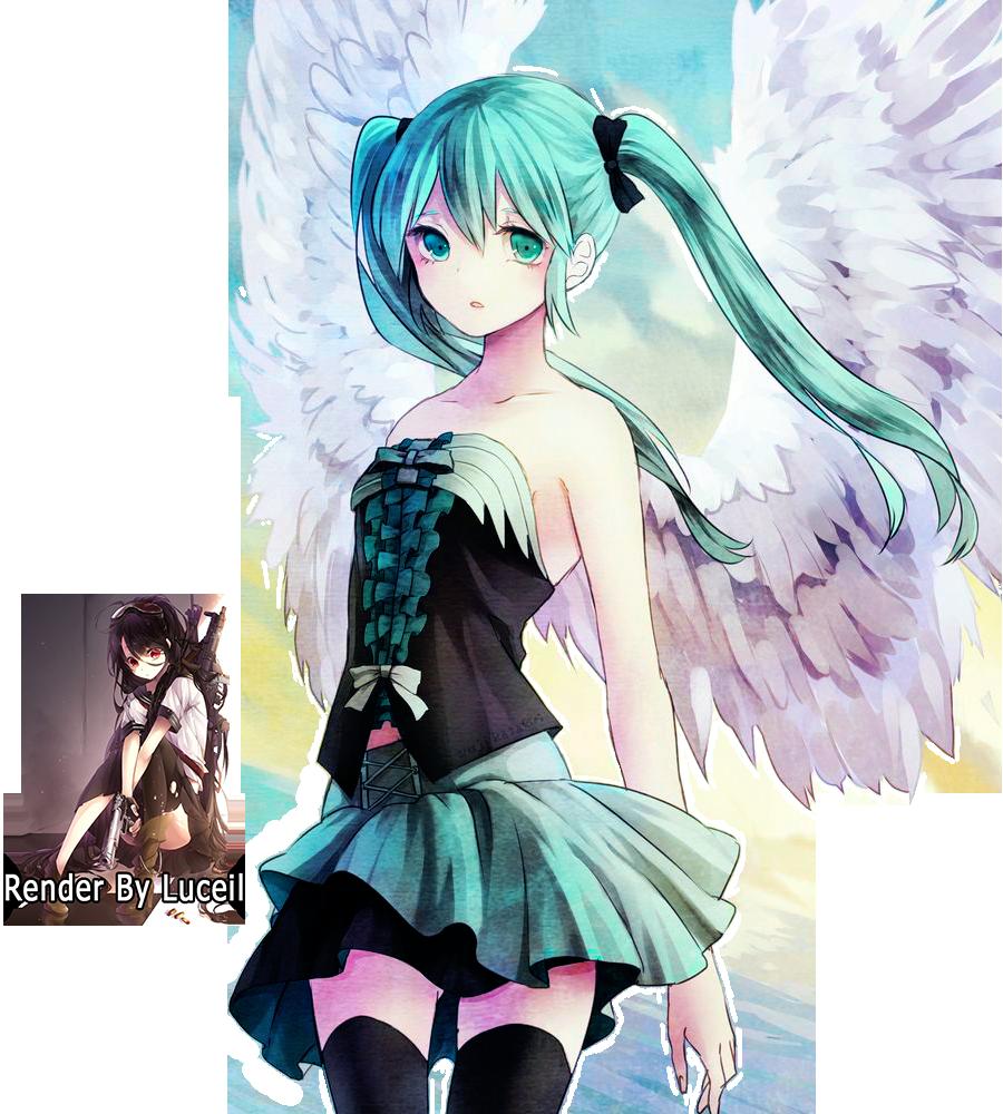 hatsune miku angel wallpapers - photo #16