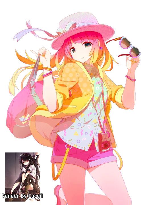 anime cute colorful girl - photo #7