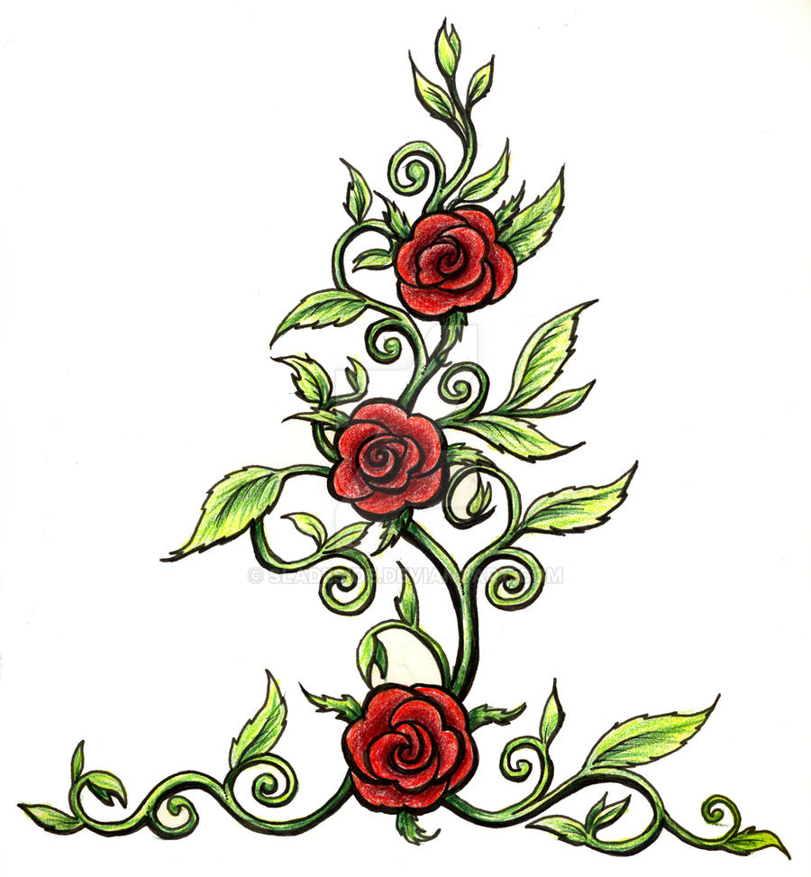 Rose tattoo by sladeside