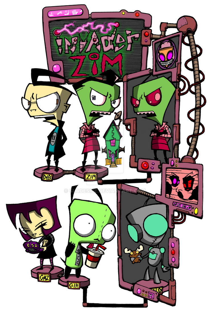 Zim design of DOOM!! by sladeside