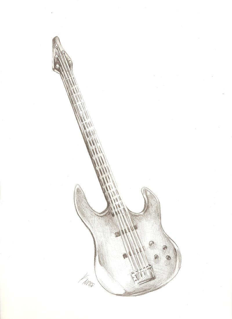 Blue Bass Guitar by Avaira on DeviantArt