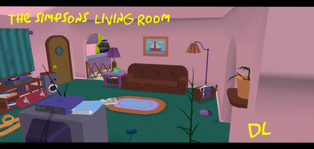 The Simpsons Living Room DL By IlluminatedTears On DeviantArt .