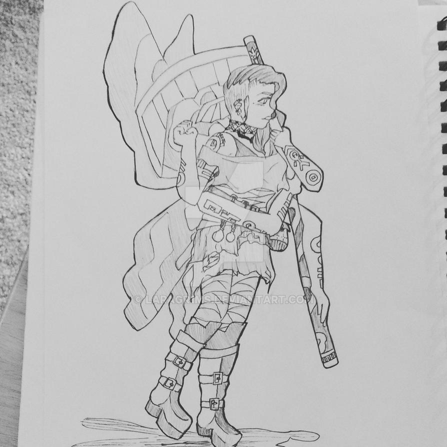 Day 1: Aella Sulit (Fantasy Character Design) by LaraGr1ms