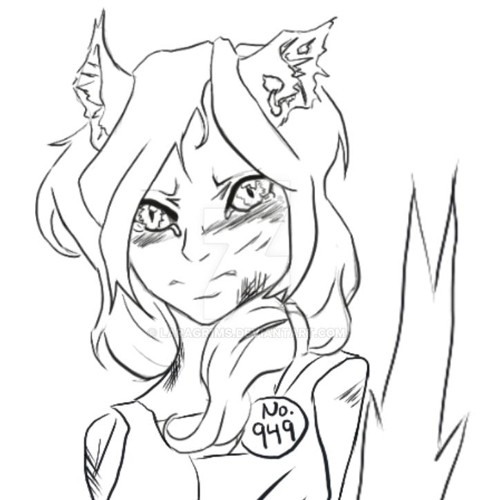 Gijinka Line Art Sketch by LaraGr1ms