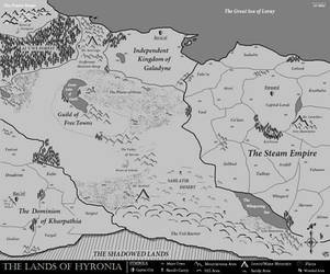 Map of Hyronia by KnytGrey