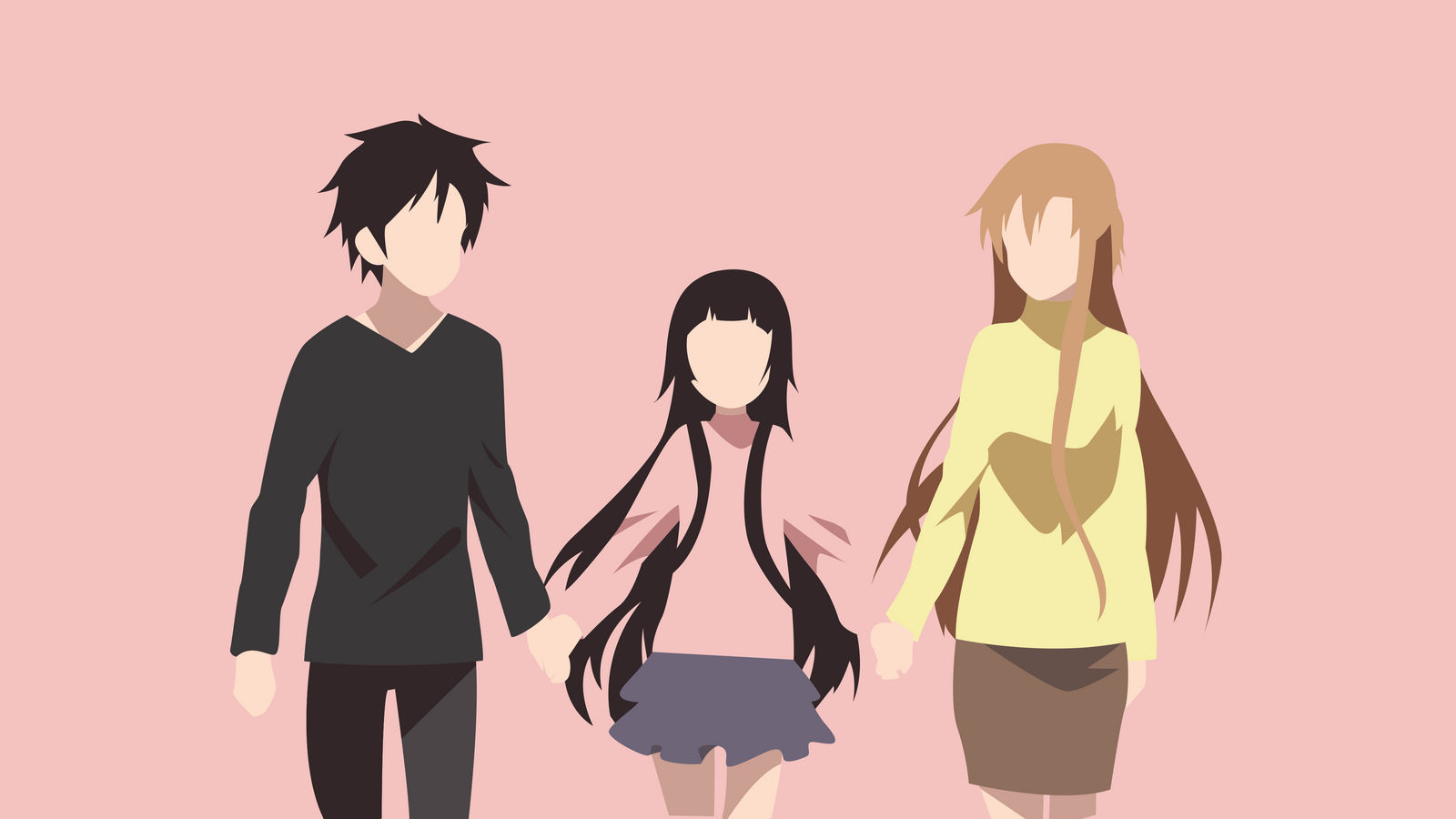 Kirito Asuna And Yui Wallpaper By Norkfeddog On Deviantart