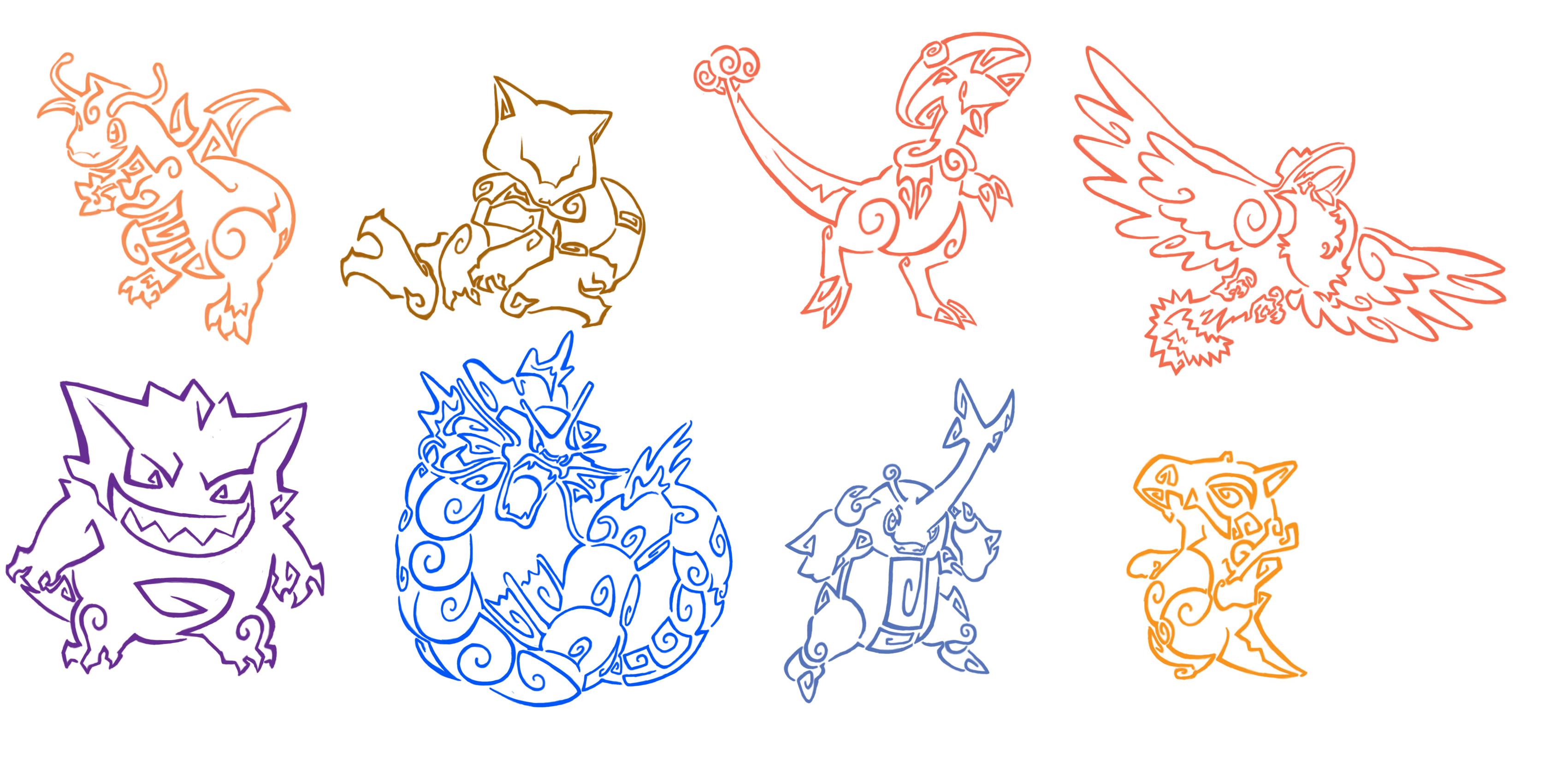 Pokemon Tattoo Pack 1 By Aerpenium On Deviantart
