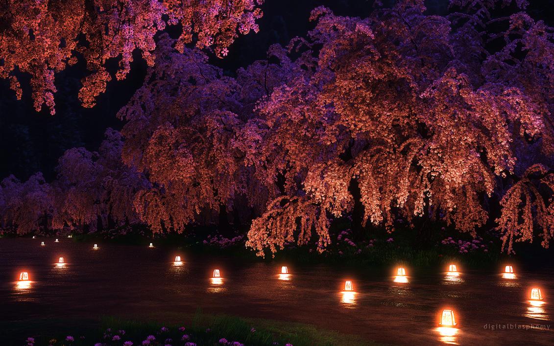 Sakura Night By Dblasphemy On Deviantart