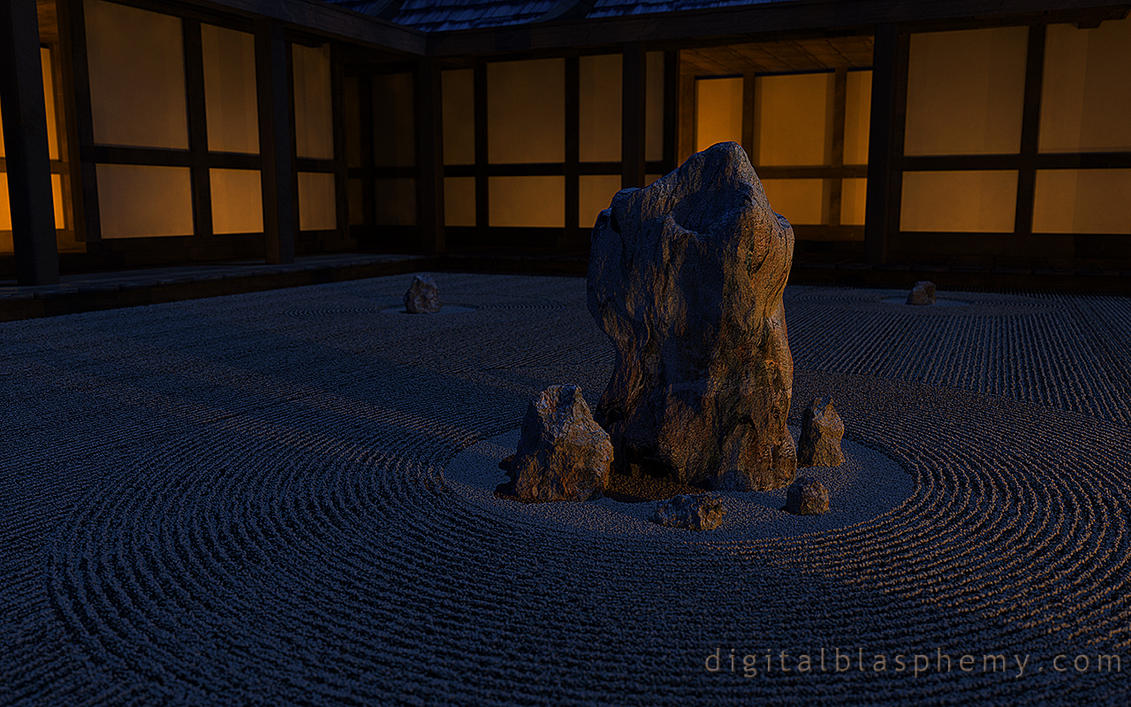 Karesansui Night (2014) by dblasphemy