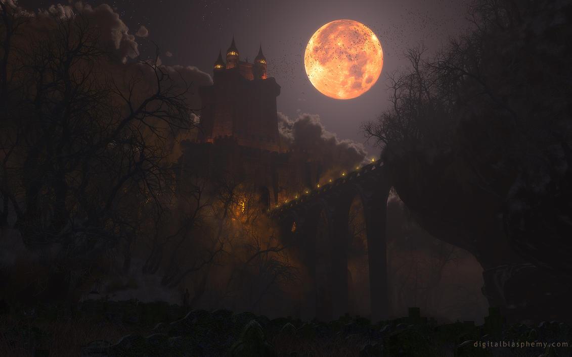 Castle Dracula  1920 x 1200 (Happy Halloween!) by dblasphemy