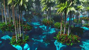 The Floating Garden (2019) by dblasphemy