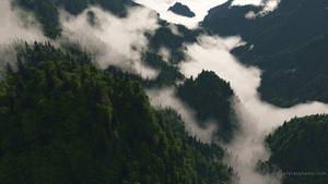 Misty Ridge by dblasphemy