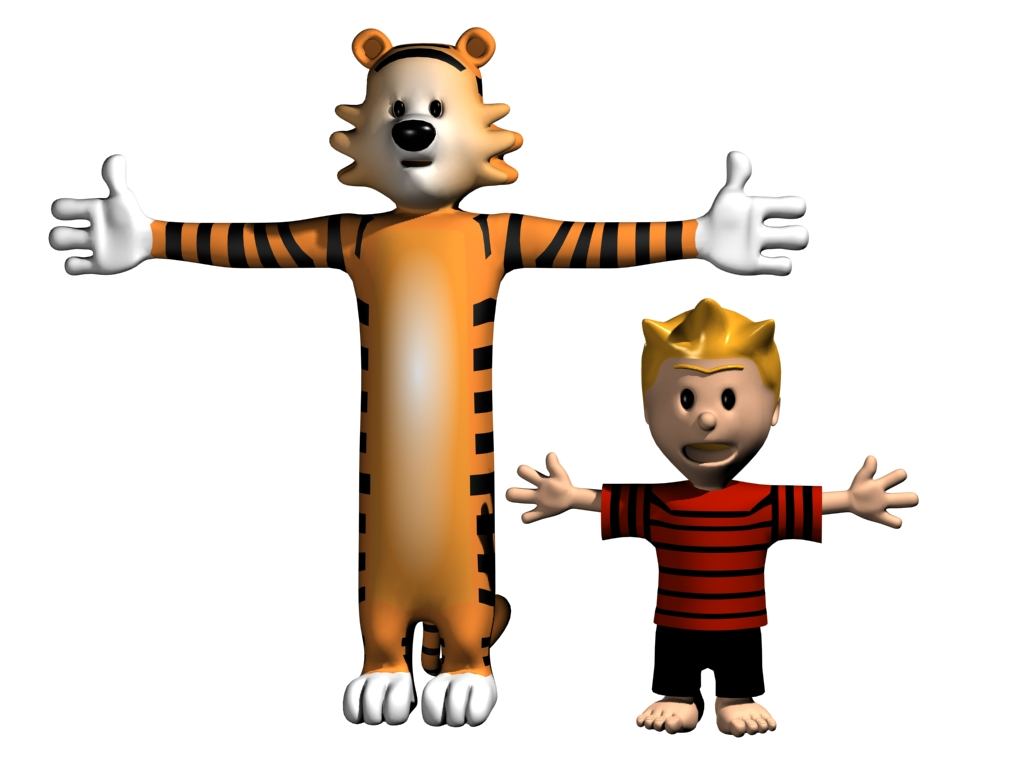 Calvin and Hobbes by wender