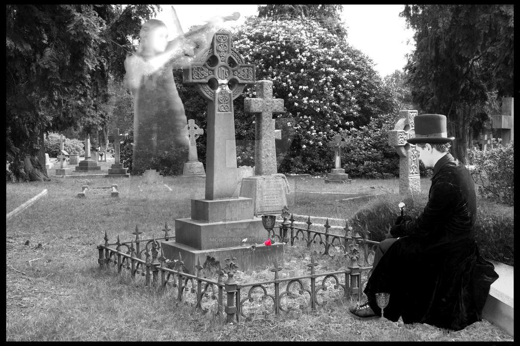 Graveyard picnic by MorbidMorticia