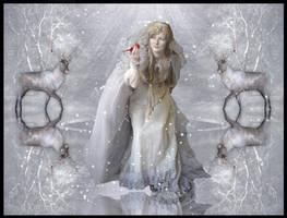 Winter moon goddess
