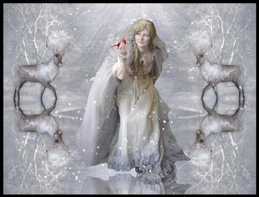 Winter moon goddess by MorbidMorticia