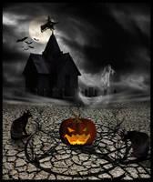 Halloween Scenery by MorbidMorticia
