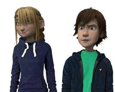 Modern Hiccup and Astrid by ezralaracroft