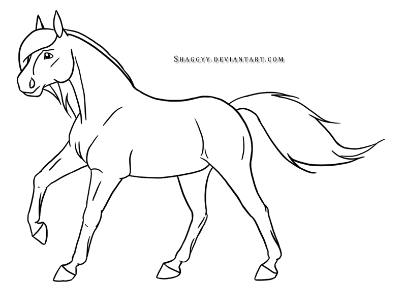 Running horse drawing easy - photo#4