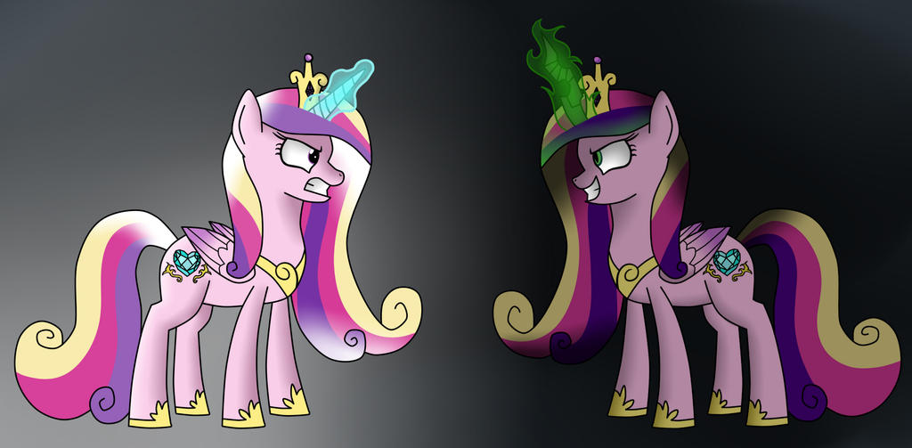 Princess Cadence vs Queen Chrysalis by VanillaGhosties on ... Queen Chrysalis X Princess Cadence