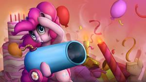 Pinkie Pie Splash Art