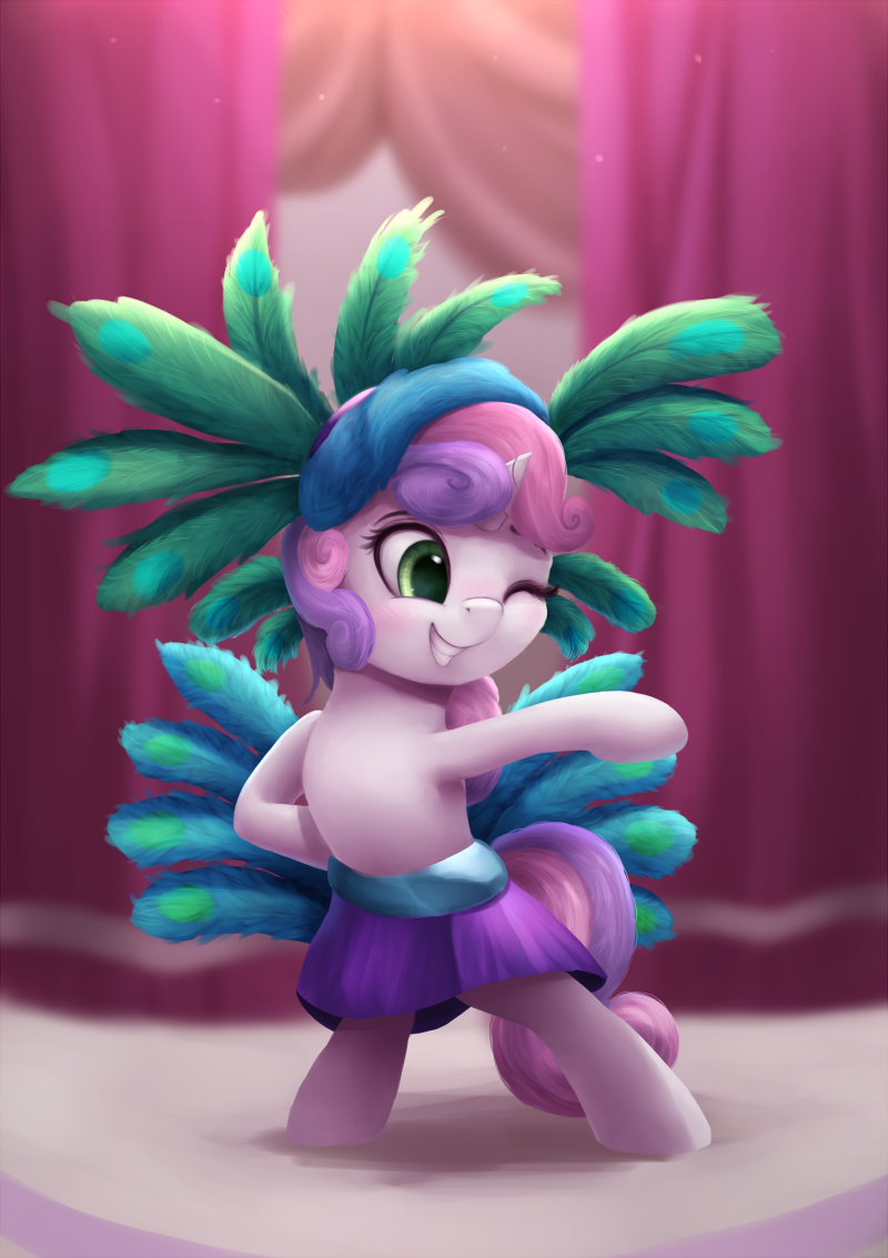Sweetie Belle Peacock Thing
