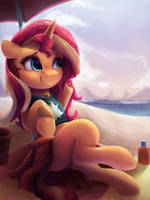 Sunny at the Beach by VanillaGhosties