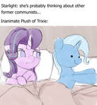 starlight and trixie in bed together