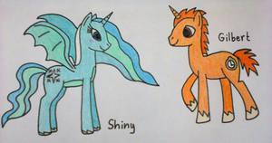 Shiny and Gilbert like ponies
