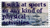 My stamps: Sport is just not for me by ShinyPteranodon