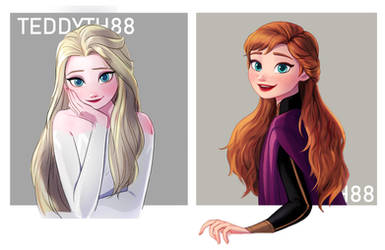 The Arendelle Sisters by teddyth88