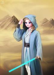 Jedi Elsa by teddyth88