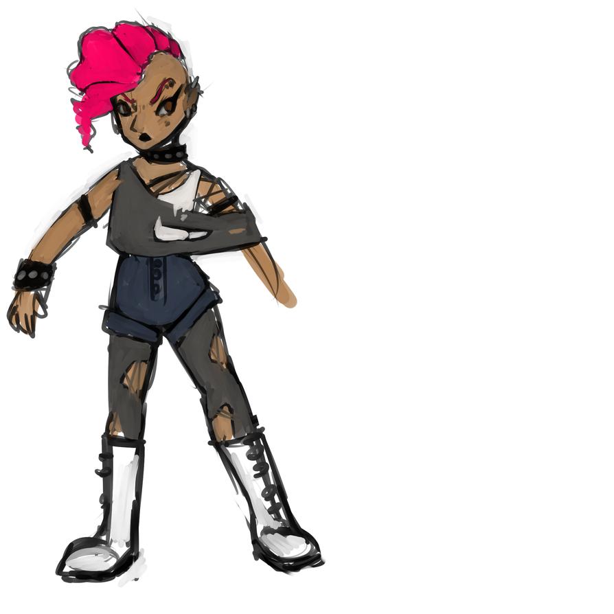 Character Design scribble by Degari