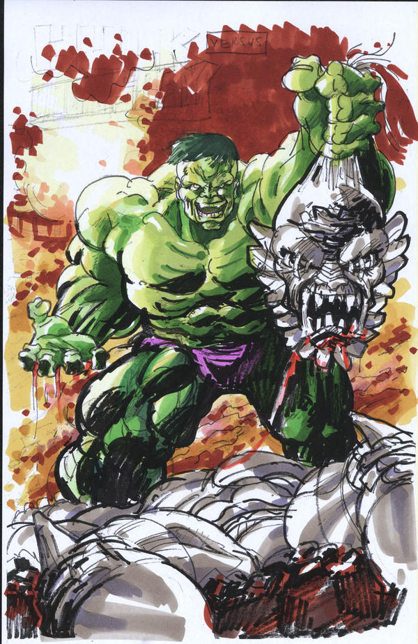 hulk vs. doomsday by ayk66 on DeviantArtDoomsday Vs Hulk