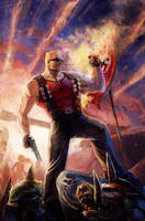 Duke Nukem 4 Cover by Xermanico