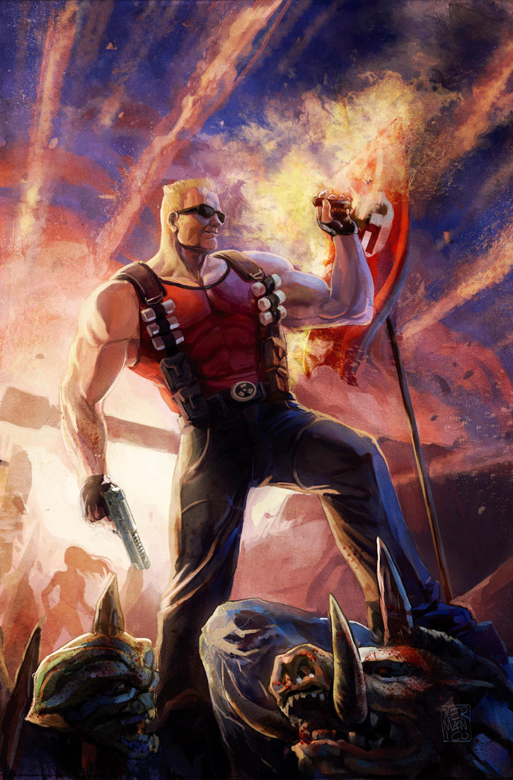 Duke Nukem 4 Cover by Xermanico