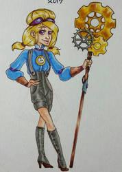 Day 24 - Steampunk Witch  by shyninjaneko