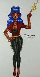 Day 25 - Rockabilly Witch  by shyninjaneko