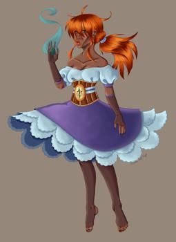 Blue Flamed Sorceress