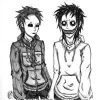 Masky and Jeff by Sombrero-de-Copa