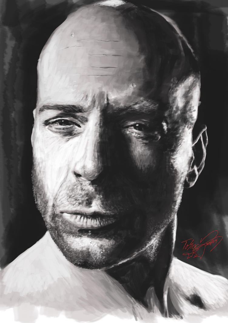 Bruce Willis by TobiasWeinald
