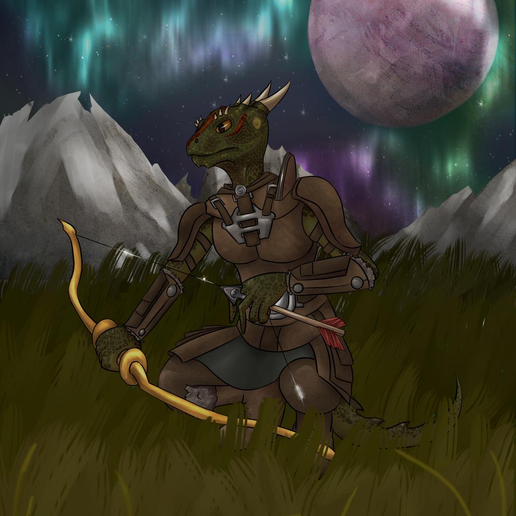 Argonian Huntress by Chocolate-Shinigami
