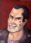 Negan from The Walking Dead Comic