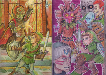 The Legend of Zelda-Ocarina of Time/Majora's Mask by TheWalkerPrieton