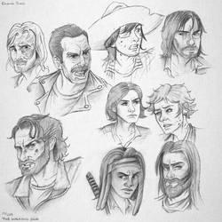 TWD Sketches by TheWalkerPrieton
