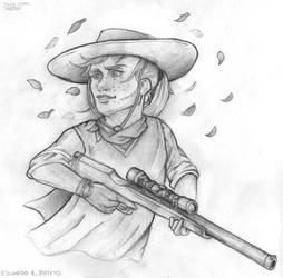TWD Comic - Andrea (sketch). by TheWalkerPrieton