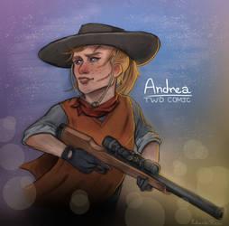 Andrea from The Walking Dead (Comic) by TheWalkerPrieton