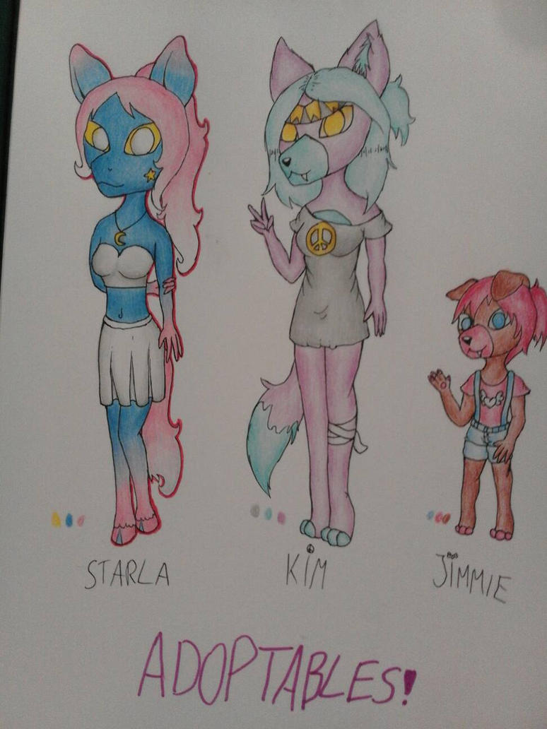 3/3 OPEN ADOPTS!!! by Pink-Sanity