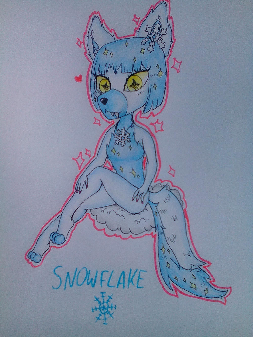 If a snowflake were an animal by Pink-Sanity