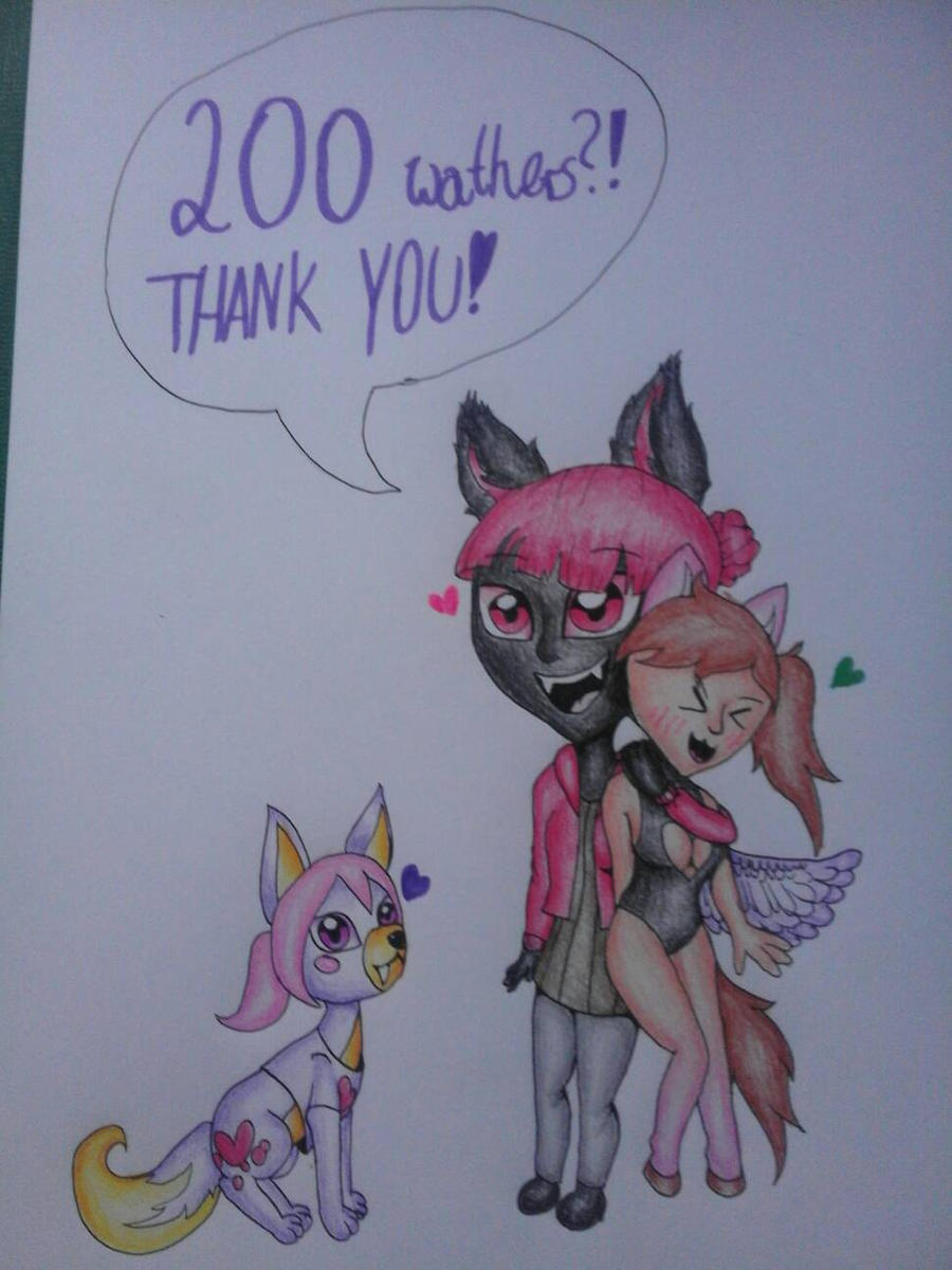 THANK YOU FOR 200 WATHERS!!! by Pink-Sanity